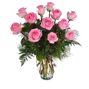 Parsippany Florist | 12 Pink Roses