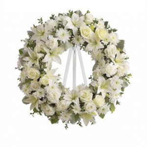Parsippany Florist | White Wreath